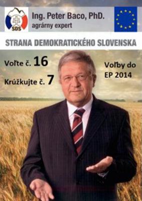 Kandidát na europoslanca Peter Baco